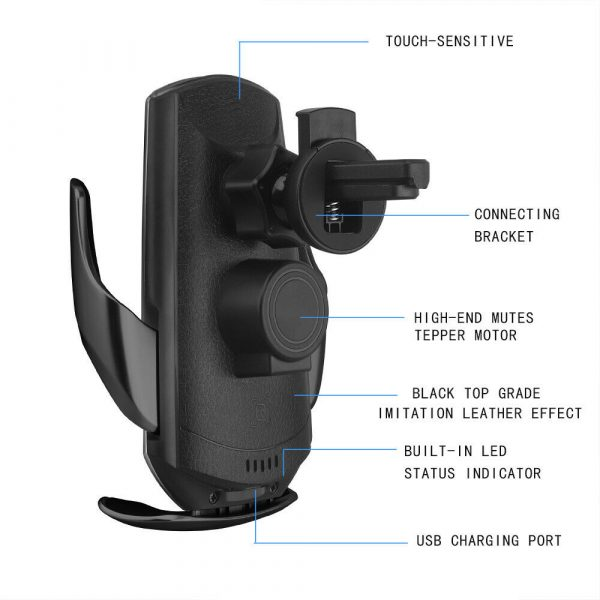 15W Q3 Wireless Car Mobile Phone Charger and Holder_8