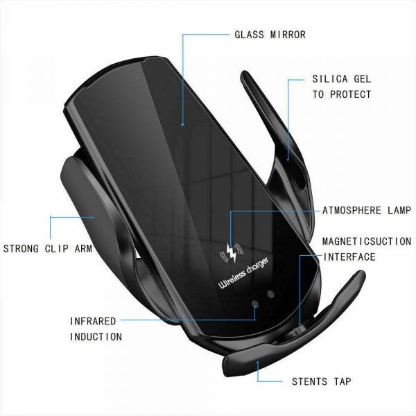15W Q3 Wireless Car Mobile Phone Charger and Holder_11