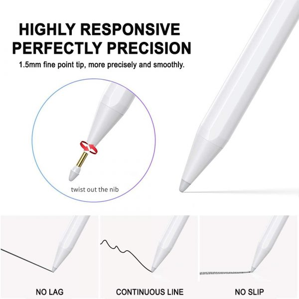 Capacitive Stylus Pen with Palm Rejection for iPad_3