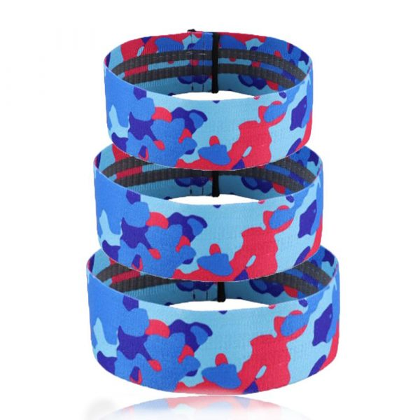 Camouflage Non-Slip Hip Trainer Resistance Bands_1