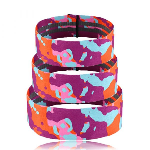 Camouflage Non-Slip Hip Trainer Resistance Bands_2