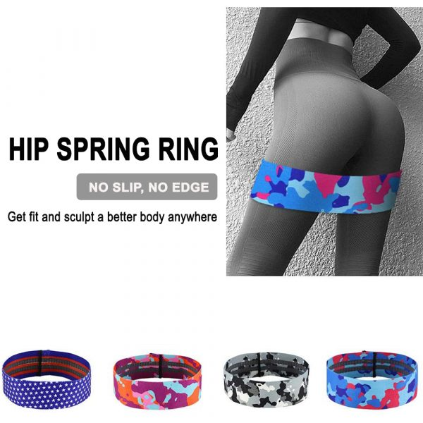 Camouflage Non-Slip Hip Trainer Resistance Bands_10