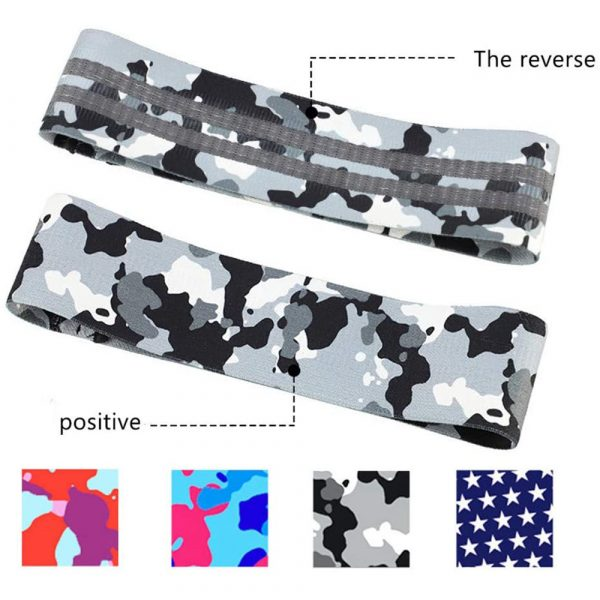 Camouflage Non-Slip Hip Trainer Resistance Bands_13
