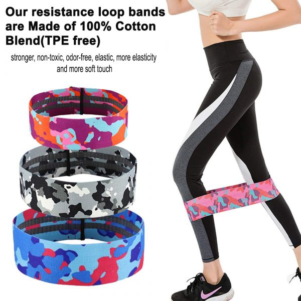 Camouflage Non-Slip Hip Trainer Resistance Bands_15