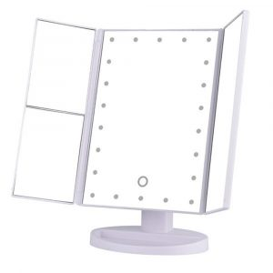 Tri-Fold Makeup Mirror Vanity Mirror with LED Lights