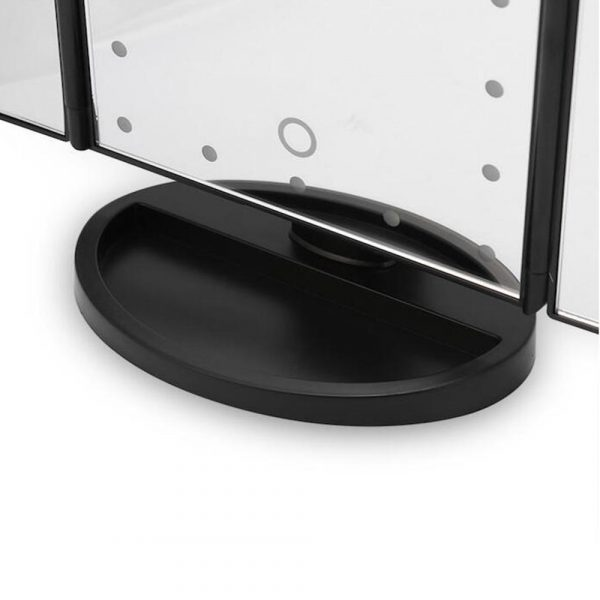 Tri-Fold Makeup Mirror Vanity Mirror with LED Lights_11