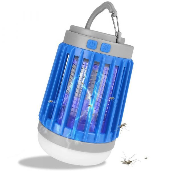 Solar Powered LED Outdoor Light and Mosquito Killer USB Charging_0