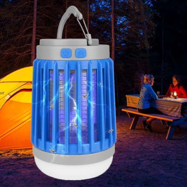 Solar Powered LED Outdoor Light and Mosquito Killer USB Charging_1
