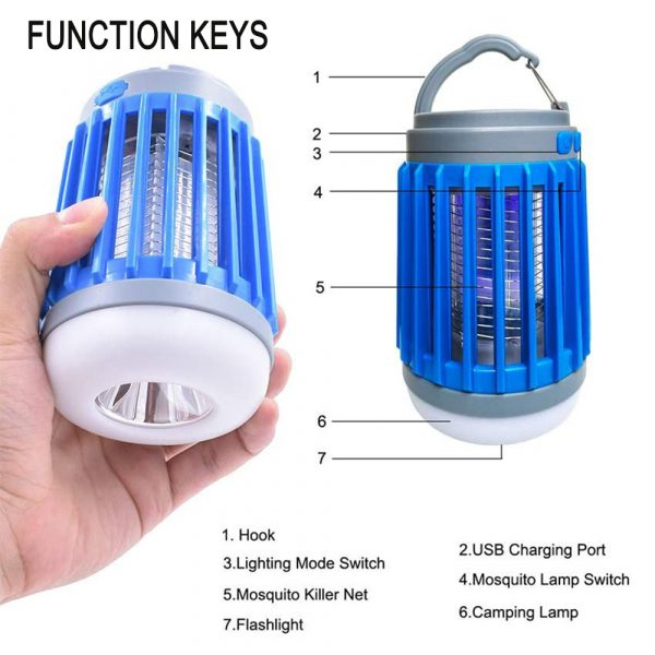 Solar Powered LED Outdoor Light and Mosquito Killer USB Charging_10