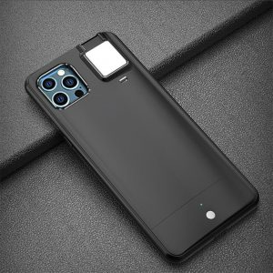 Mobile Phone Case for Apple Devices with LED Fill Light