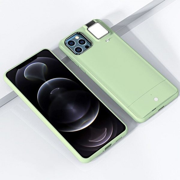 Mobile Phone Case for Apple Devices with LED Fill Light_4