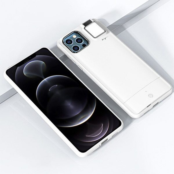 Mobile Phone Case for Apple Devices with LED Fill Light_6
