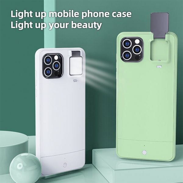 Mobile Phone Case for Apple Devices with LED Fill Light_7