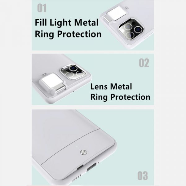 Mobile Phone Case for Apple Devices with LED Fill Light_17