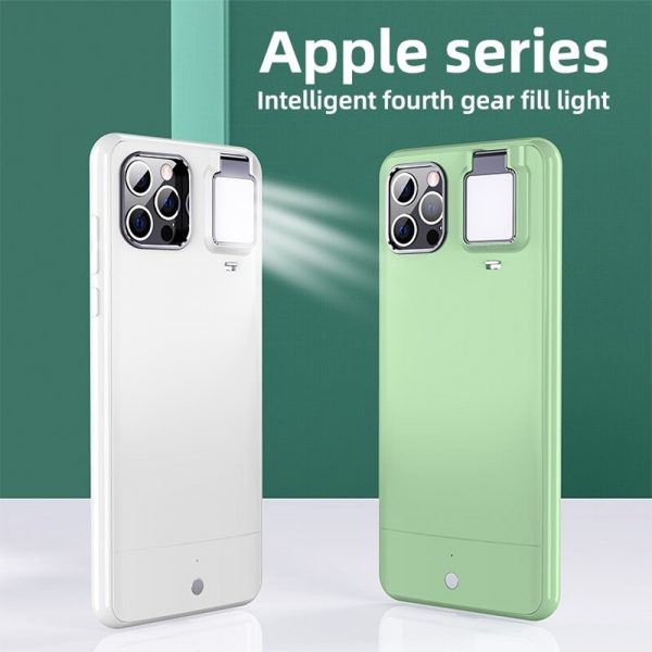 Mobile Phone Case for Apple Devices with LED Fill Light_8