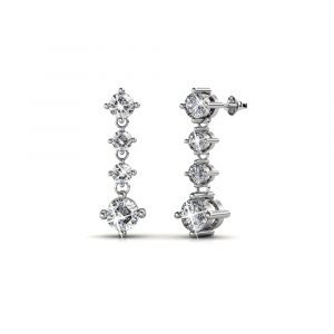 5 Day Set of Earrings with Genuine Swarovski Crystals