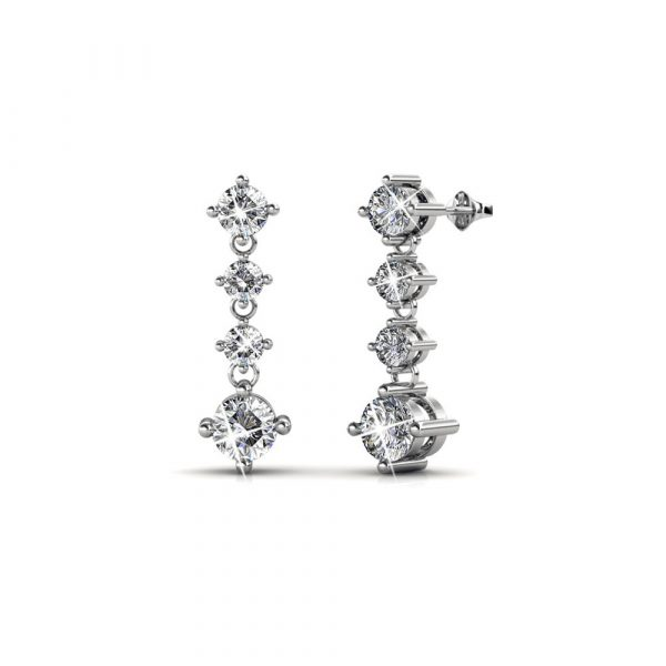 5 Day Set of Earrings with Genuine Swarovski Crystals_1