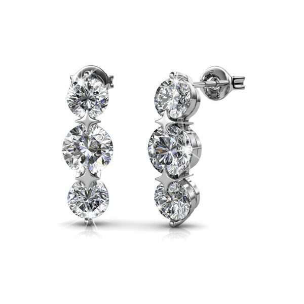 5 Day Set of Earrings with Genuine Swarovski Crystals_2