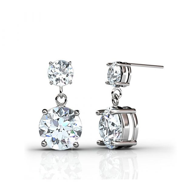 5 Day Set of Earrings with Genuine Swarovski Crystals_4