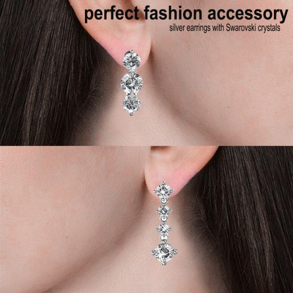 5 Day Set of Earrings with Genuine Swarovski Crystals_9