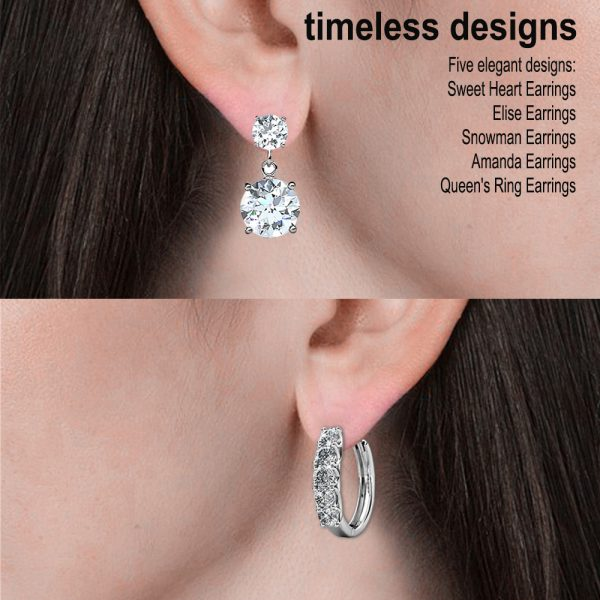 5 Day Set of Earrings with Genuine Swarovski Crystals_10