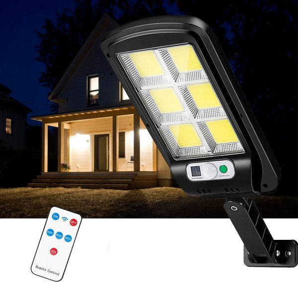 Motion Sensor Outdoor Area Remote Controlled Solar Lamp_4