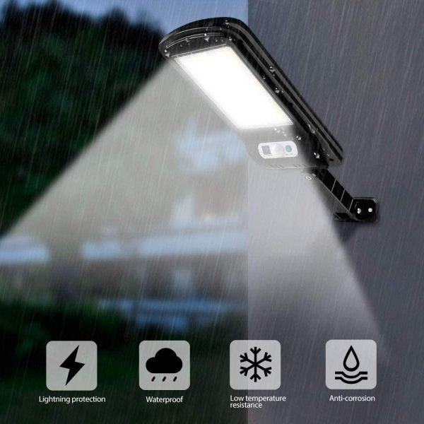 Motion Sensor Outdoor Area Remote Controlled Solar Lamp_9