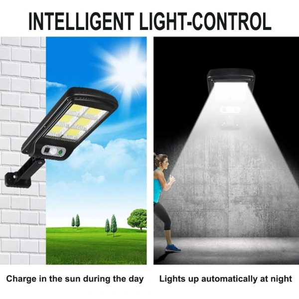 Motion Sensor Outdoor Area Remote Controlled Solar Lamp_12
