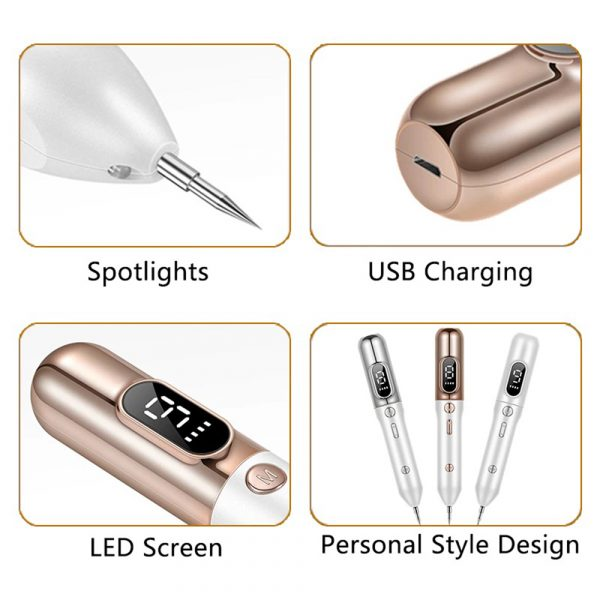 9 Speed LCD Display Mole, Pimple, Tag, Tattoo, and Warts Remover_6