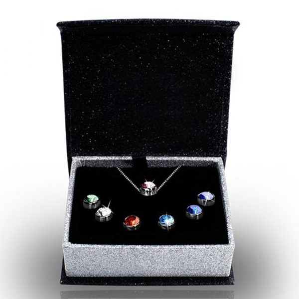 7-Day Pendant Necklace Set with Swarovski Crystals_0