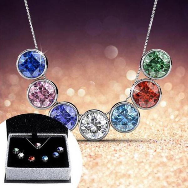7-Day Pendant Necklace Set with Swarovski Crystals_3