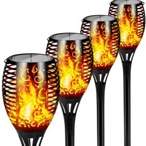 12 LED Light Solar Powered Flame Torch Decorative Light