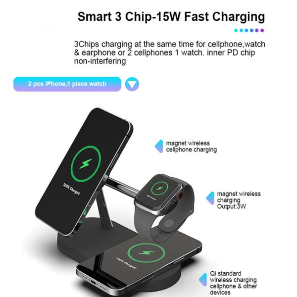 3-in-1 15W Wireless Magnetic Charger_5