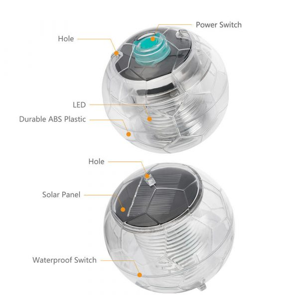 Solar Powered Color Changing LED Floating Pool Lights_7