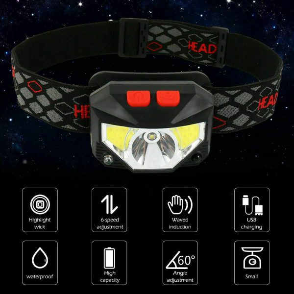 Bright Waterproof Rechargeable LED Head Lamp_5