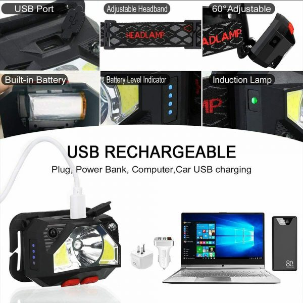 Bright Waterproof Rechargeable LED Head Lamp_10