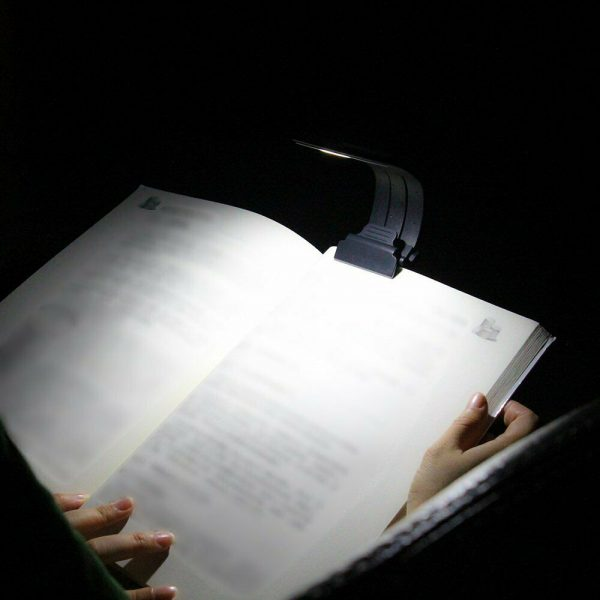 USB Rechargeable Portable LED Reading Booklight with Clip_2