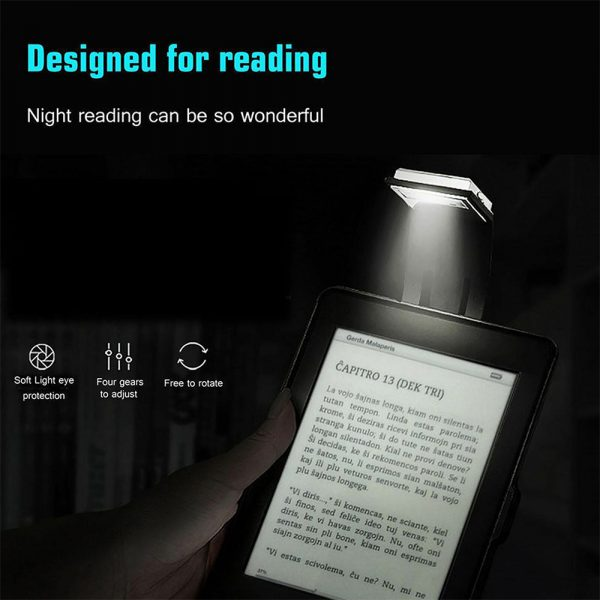 USB Rechargeable Portable LED Reading Booklight with Clip_4