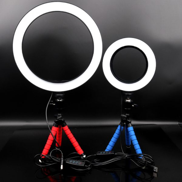 26cm Dimmable LED Selfie Ring Light with Tripod_2