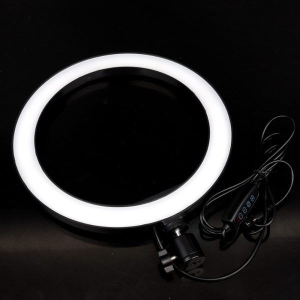 26cm Dimmable LED Selfie Ring Light with Tripod_3