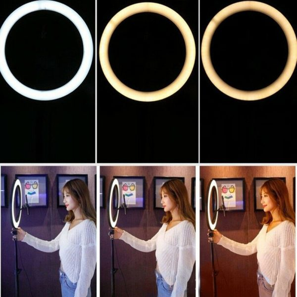 26cm Dimmable LED Selfie Ring Light with Tripod_11