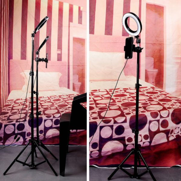 26cm Dimmable LED Selfie Ring Light with Tripod_15