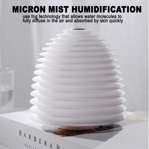 USB Interface Round LED Bedside Night Light Humidifier and Diffuser_6