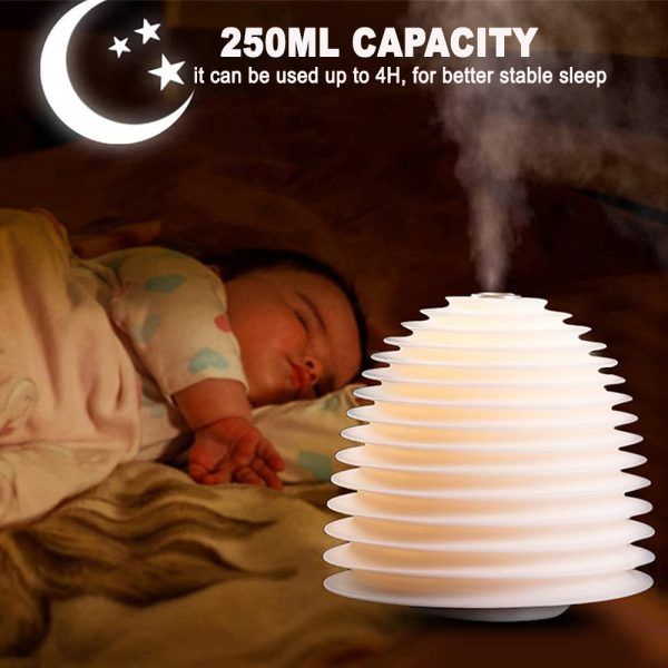 USB Interface Round LED Bedside Night Light Humidifier and Diffuser_7