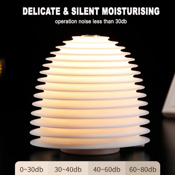 USB Interface Round LED Bedside Night Light Humidifier and Diffuser_8