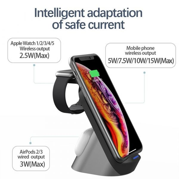 3-in-1 Wireless Vertical Stand Mobile Phone Watch and Headset Charger_4