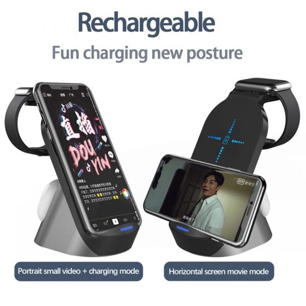 3-in-1 Wireless Vertical Stand Mobile Phone Watch and Headset Charger_11