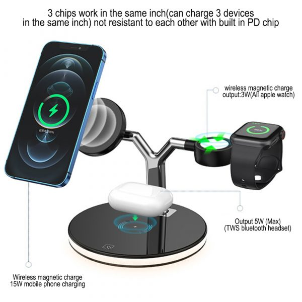 3-in-1 Magnetic Charger Y-Shape MagSafe Fast Charging Station_3