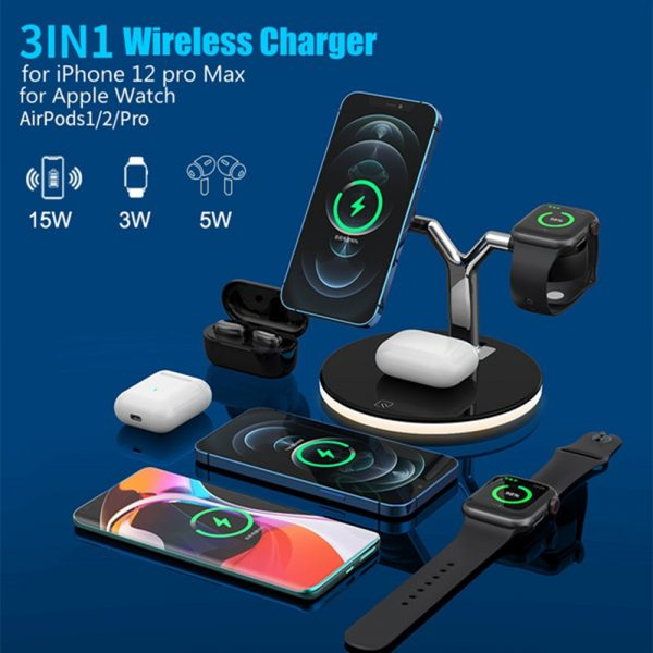 3-in-1 Magnetic Charger Y-Shape MagSafe Fast Charging Station_4