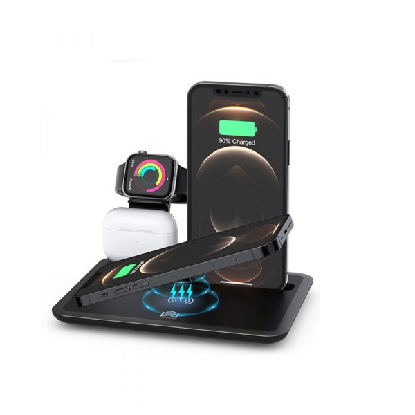 Multi-Function QI Enabled Wireless 3-in-1 Fast Charging Station_0